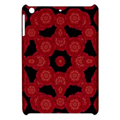 Stylized Floral Check Apple Ipad Mini Hardshell Case by dflcprints