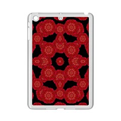 Stylized Floral Check Ipad Mini 2 Enamel Coated Cases by dflcprints
