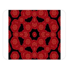 Stylized Floral Check Double Sided Flano Blanket (large)  by dflcprints