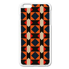 Rhombus And Stripes      			apple Iphone 6 Plus/6s Plus Enamel White Case by LalyLauraFLM
