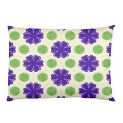 Purple Flowers Pattern        pillow Case by LalyLauraFLM