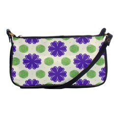 Purple Flowers Pattern        			shoulder Clutch Bag by LalyLauraFLM