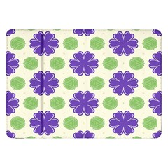 Purple Flowers Pattern        			samsung Galaxy Tab 8 9  P7300 Flip Case by LalyLauraFLM