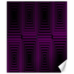 Purple Black Rectangles         			canvas 20  X 24  by LalyLauraFLM
