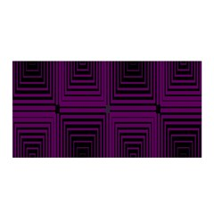 Purple Black Rectangles         Satin Wrap by LalyLauraFLM