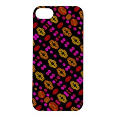Stylized Floral Stripes Collage Pattern Apple Iphone 5s/ Se Hardshell Case by dflcprints