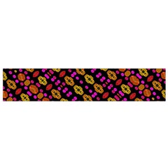 Stylized Floral Stripes Collage Pattern Flano Scarf (small)  by dflcprints