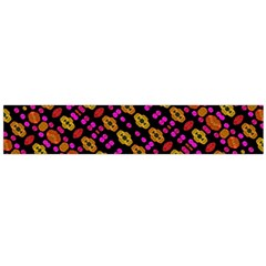 Stylized Floral Stripes Collage Pattern Flano Scarf (large)  by dflcprints