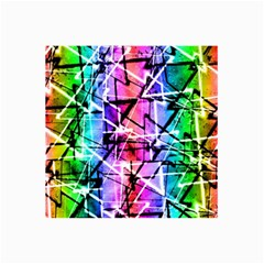 Multicolor Geometric Grunge Collage 12  X 18  by dflcprints