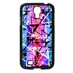 Multicolor Geometric Grunge Samsung Galaxy S4 I9500/ I9505 Case (Black) by dflcprints