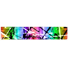 Multicolor Geometric Grunge Flano Scarf (large)  by dflcprints