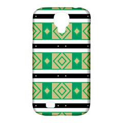 Green Rhombus And Stripes           			samsung Galaxy S4 Classic Hardshell Case (pc+silicone) by LalyLauraFLM