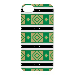 Green Rhombus And Stripes           apple Iphone 5s Hardshell Case by LalyLauraFLM