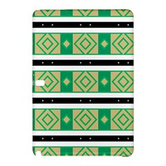 Green Rhombus And Stripes           			samsung Galaxy Tab Pro 12 2 Hardshell Case by LalyLauraFLM