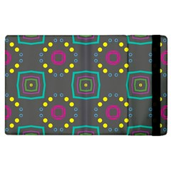 Squares And Circles Pattern apple Ipad 2 Flip Case by LalyLauraFLM