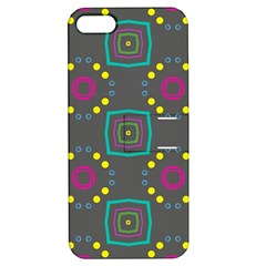 Squares And Circles Pattern 			apple Iphone 5 Hardshell Case With Stand by LalyLauraFLM