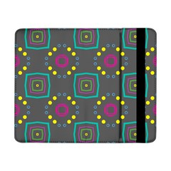 Squares And Circles Pattern 			samsung Galaxy Tab Pro 8 4  Flip Case by LalyLauraFLM