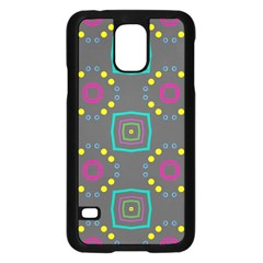 Squares And Circles Pattern 			samsung Galaxy S5 Case (black) by LalyLauraFLM
