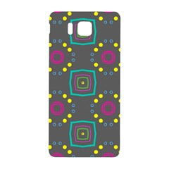 Squares And Circles Pattern samsung Galaxy Alpha Hardshell Back Case by LalyLauraFLM