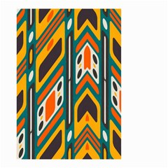 Distorted Shapes In Retro Colors   Small Garden Flag by LalyLauraFLM