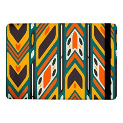 Distorted Shapes In Retro Colors   samsung Galaxy Tab Pro 10 1  Flip Case by LalyLauraFLM