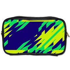 3 Colors Shapes    Toiletries Bag (two Sides) by LalyLauraFLM