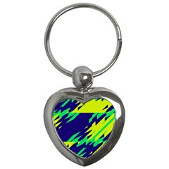 3 Colors Shapes    			key Chain (heart) by LalyLauraFLM
