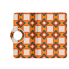 Flowers and squares pattern     			Kindle Fire HDX 8.9  Flip 360 Case by LalyLauraFLM