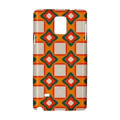 Flowers And Squares Pattern     samsung Galaxy Note 4 Hardshell Case by LalyLauraFLM