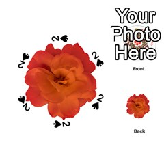 Red Rose Photo Playing Cards 54 (round)  by dflcprints