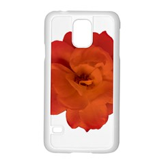 Red Rose Photo Samsung Galaxy S5 Case (white) by dflcprints