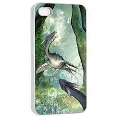 Awesome Seadraon In A Fantasy World With Bubbles Apple Iphone 4/4s Seamless Case (white) by FantasyWorld7