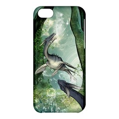 Awesome Seadraon In A Fantasy World With Bubbles Apple Iphone 5c Hardshell Case by FantasyWorld7