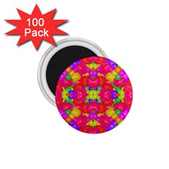 Multicolor Floral Check 1 75  Magnets (100 Pack)  by dflcprints