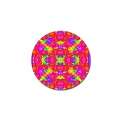 Multicolor Floral Check Golf Ball Marker (10 Pack) by dflcprints