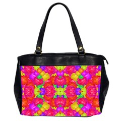 Multicolor Floral Check Office Handbags (2 Sides)  by dflcprints