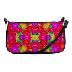 Multicolor Floral Check Shoulder Clutch Bags by dflcprints