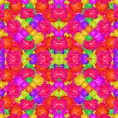 Multicolor Floral Check Magic Photo Cubes by dflcprints