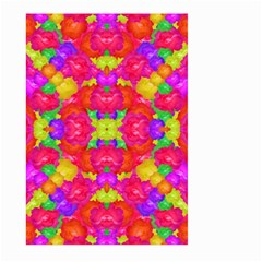 Multicolor Floral Check Large Garden Flag (two Sides) by dflcprints