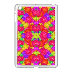 Multicolor Floral Check Apple Ipad Mini Case (white) by dflcprints