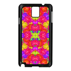 Multicolor Floral Check Samsung Galaxy Note 3 N9005 Case (black) by dflcprints