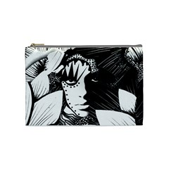Woman Amongst Flowers Cosmetic Bag (medium) by DryInk