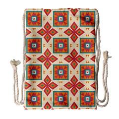 Floral Pattern  Large Drawstring Bag by LalyLauraFLM