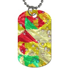 Colorful 3d Texture   dog Tag (one Side) by LalyLauraFLM