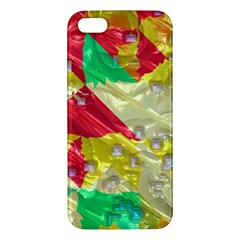 Colorful 3d Texture   iphone 5s Premium Hardshell Case by LalyLauraFLM