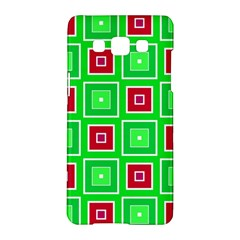 Green Red Squares Pattern    samsung Galaxy A5 Hardshell Case by LalyLauraFLM