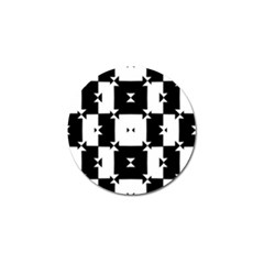 Black And White Check Pattern Golf Ball Marker (10 Pack) by dflcprints