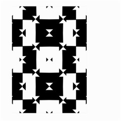 Black And White Check Pattern Large Garden Flag (two Sides) by dflcprints