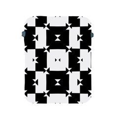 Black And White Check Pattern Apple Ipad 2/3/4 Protective Soft Cases by dflcprints