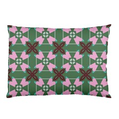 Pink Brown Flowers Pattern     pillow Case by LalyLauraFLM